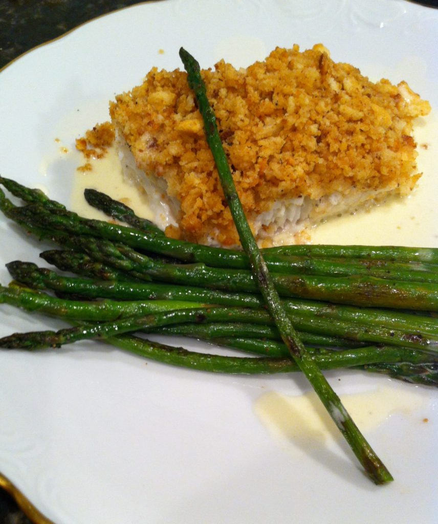 Filet of Halibut with asparagus
