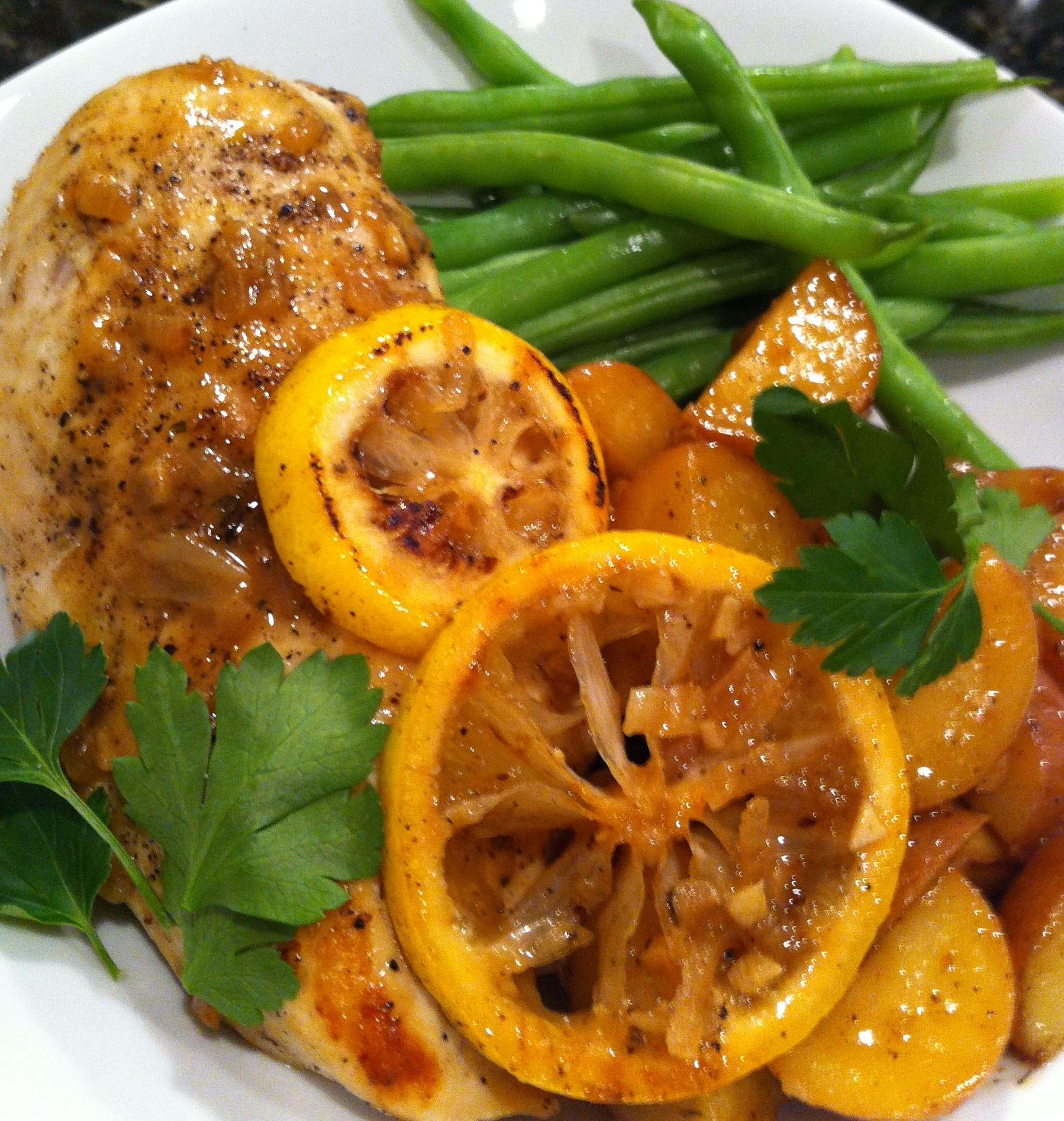 Meyer Lemon Chicken Plated