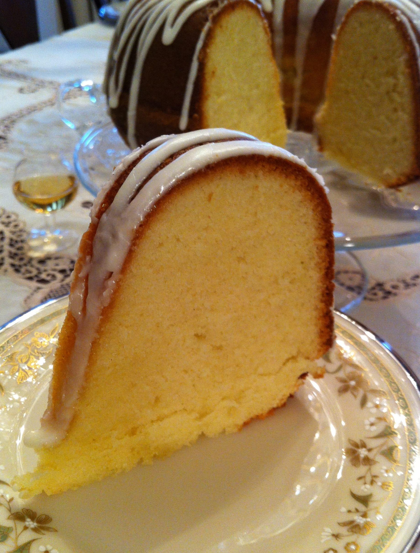 Slice of Apricot Brandy Pound Cake