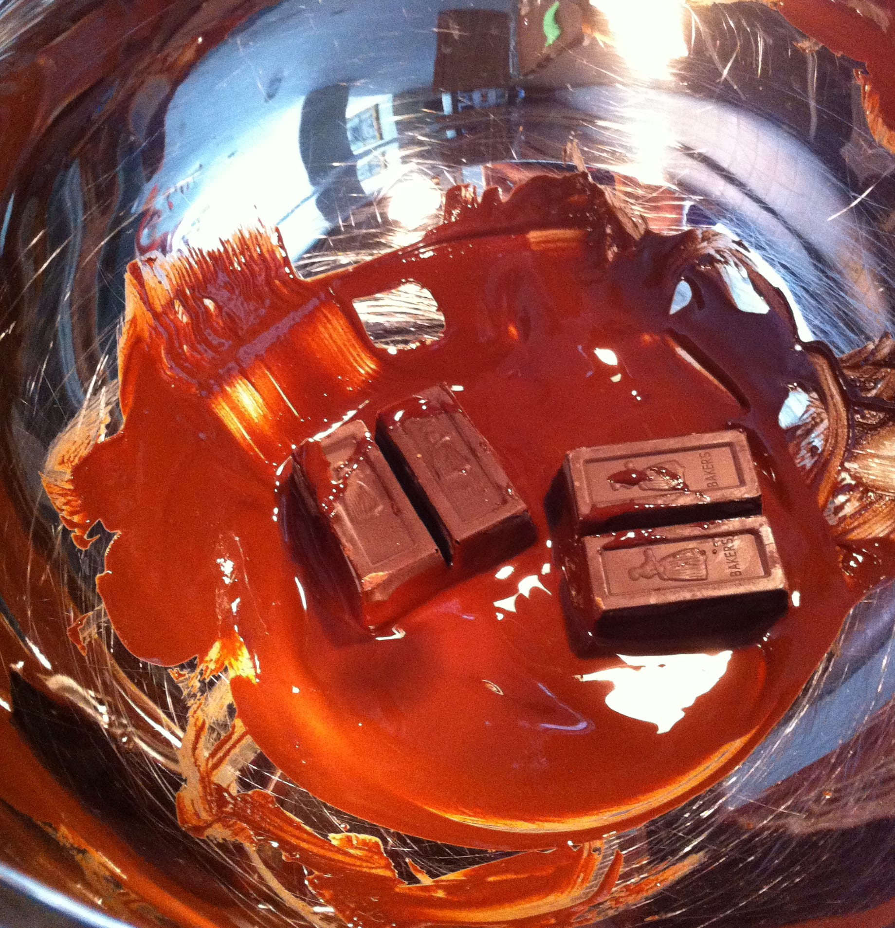 Melting Chocolate for Brownies