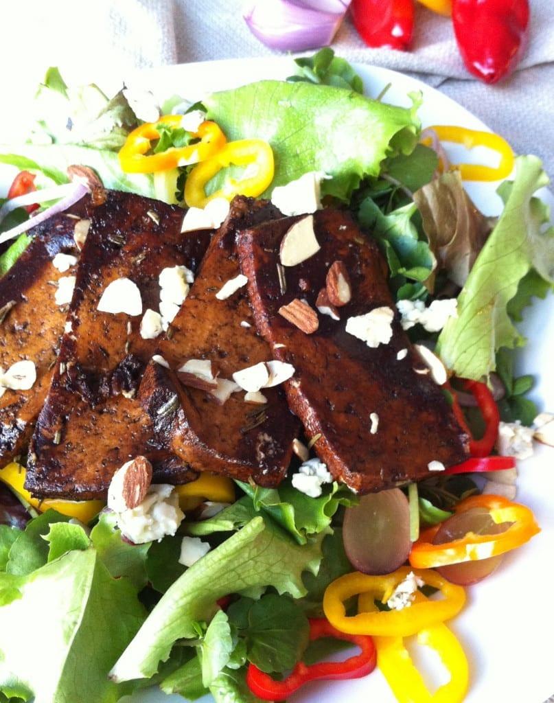 Marinated Tofu Salad with a Sweet Balsamic Glaze