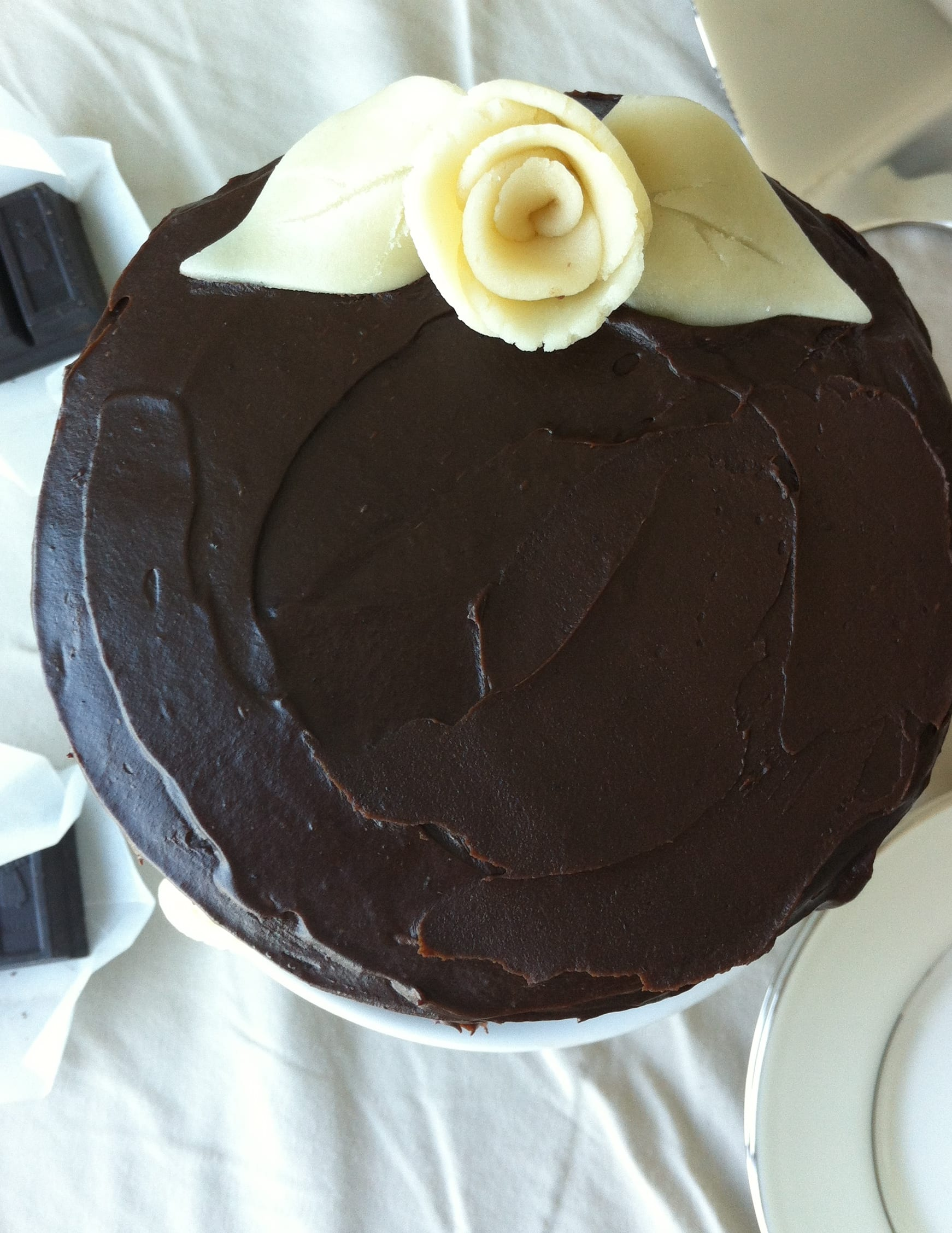 Old Fashioned Chocolate Cake With Fudge Icing