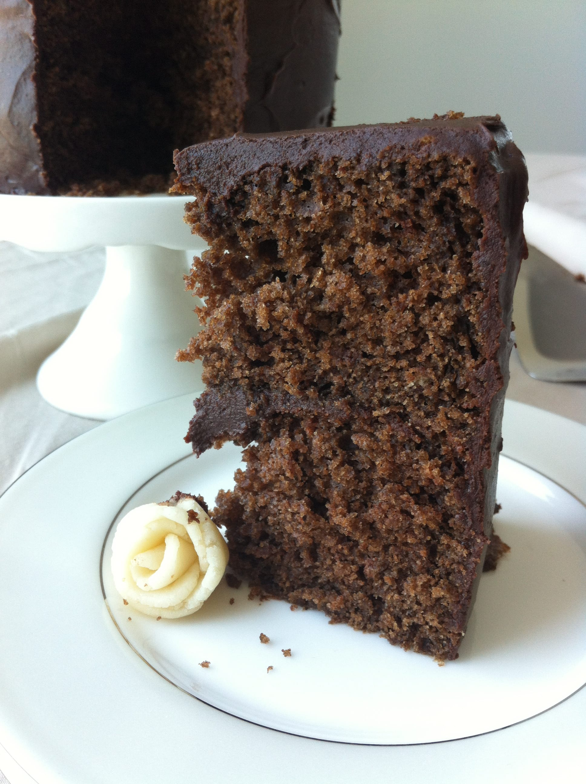 Old Fashioned Chocolate Fudge Cake - American Heritage Cooking