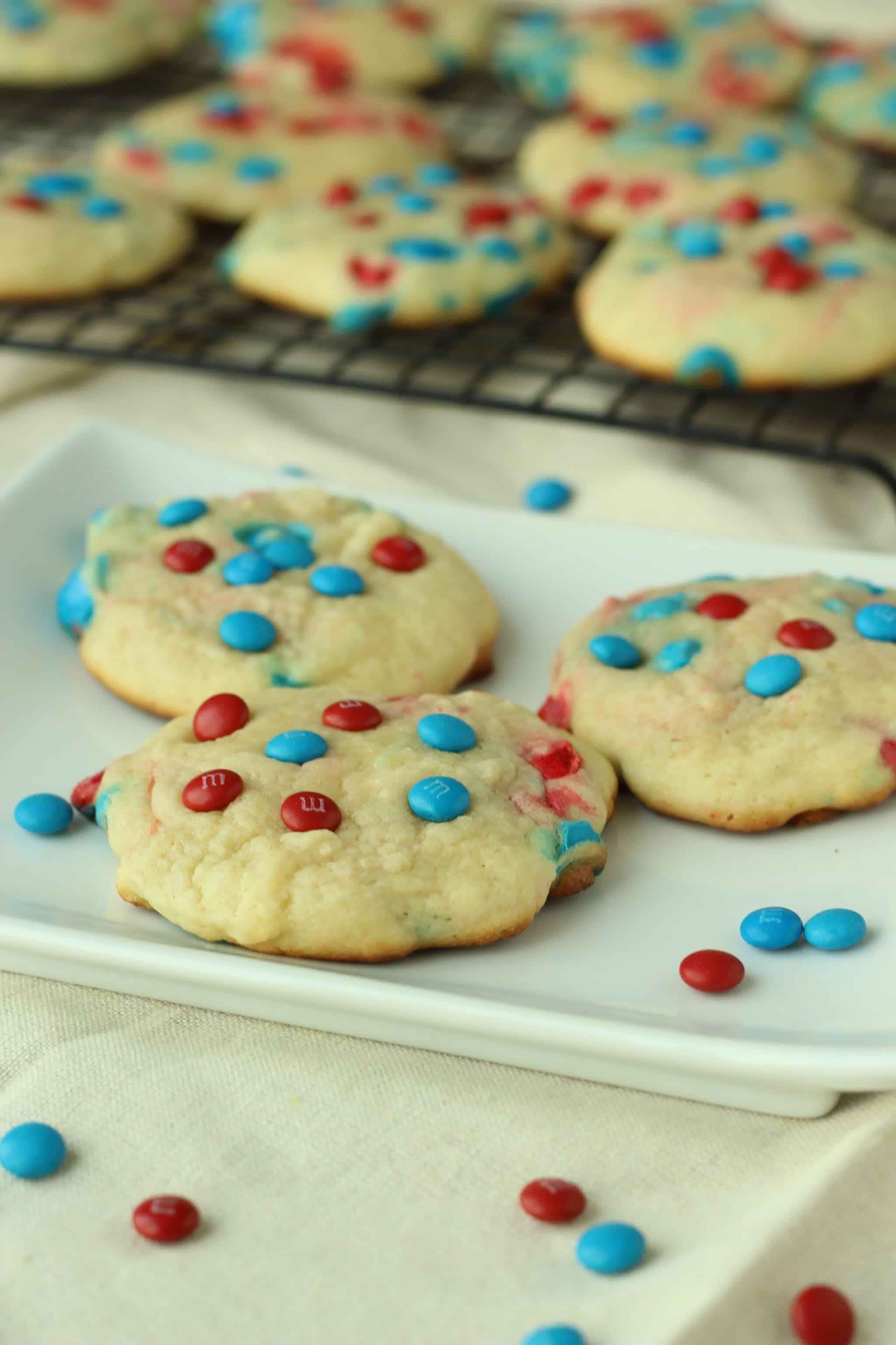 Patriotic M&M Sugar Cookies