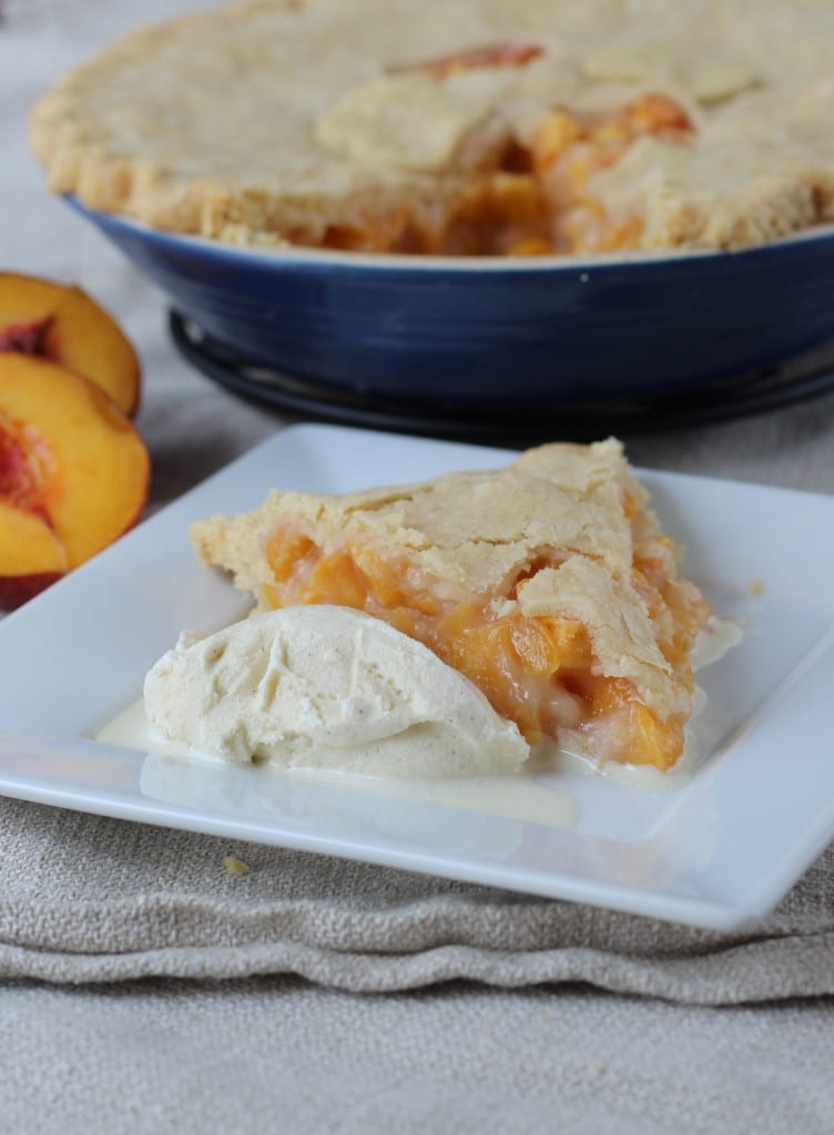 Old-Fashioned Peach Pie [And an Orange Cat]