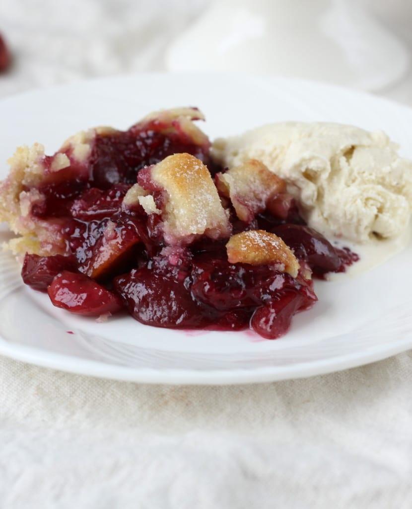 Cherry Pie in an Almond Crust