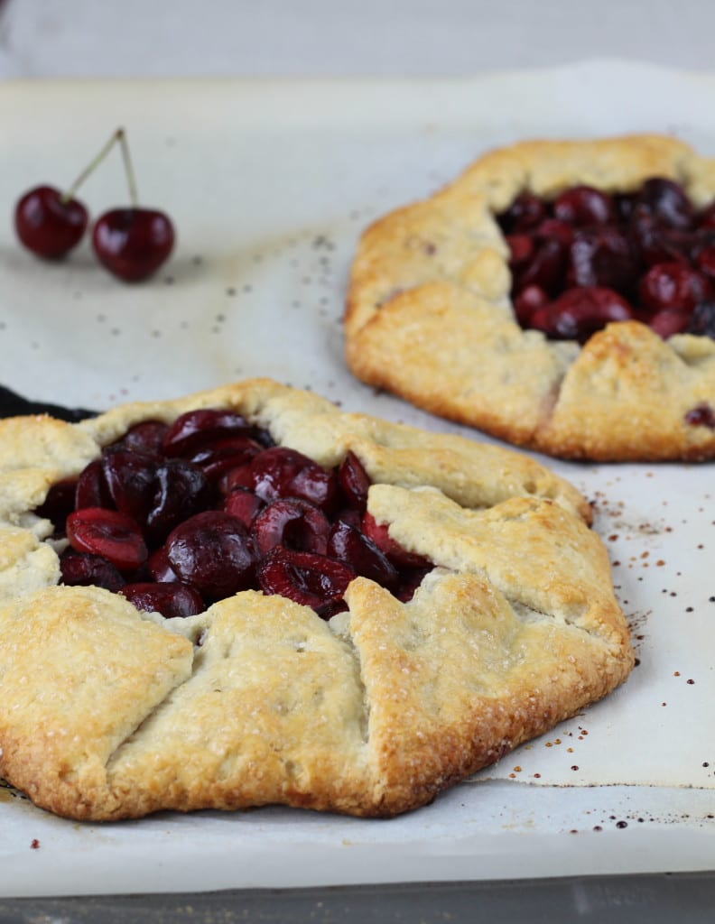 Cherry Galette with an Almond Buttermilk Crust