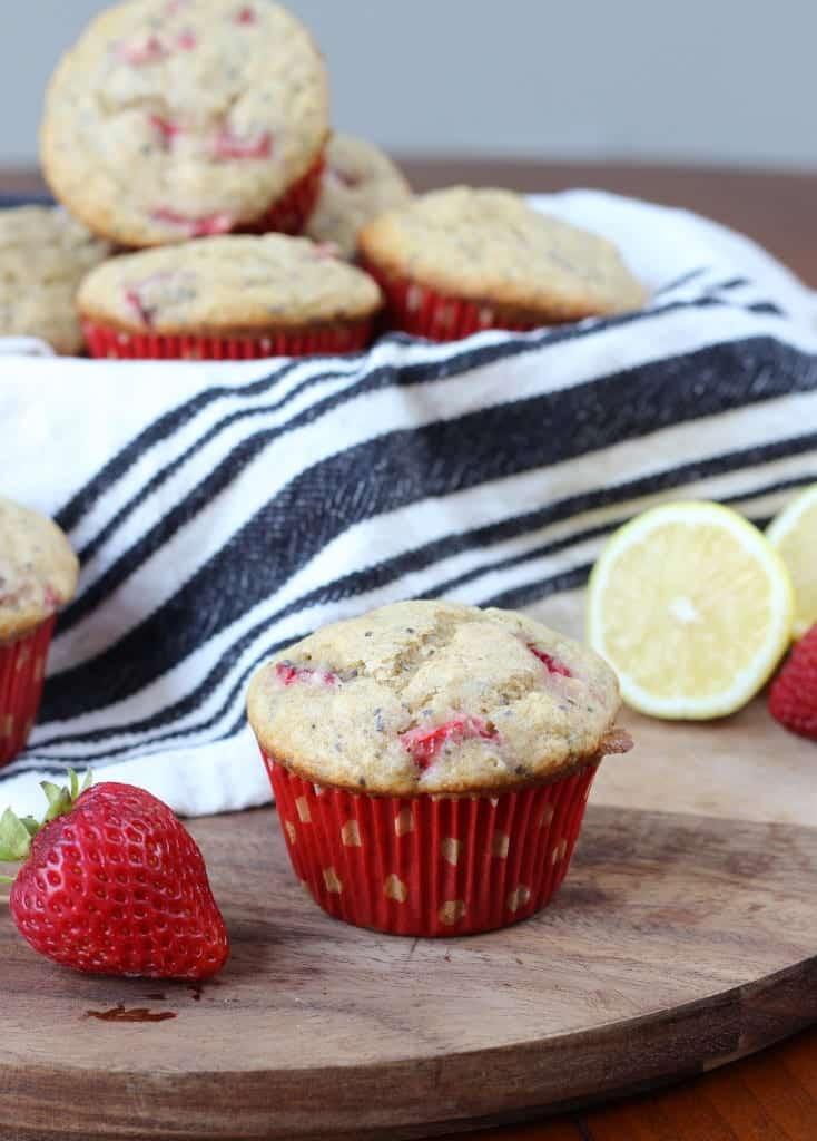 Strawberry Whole Wheat Muffins