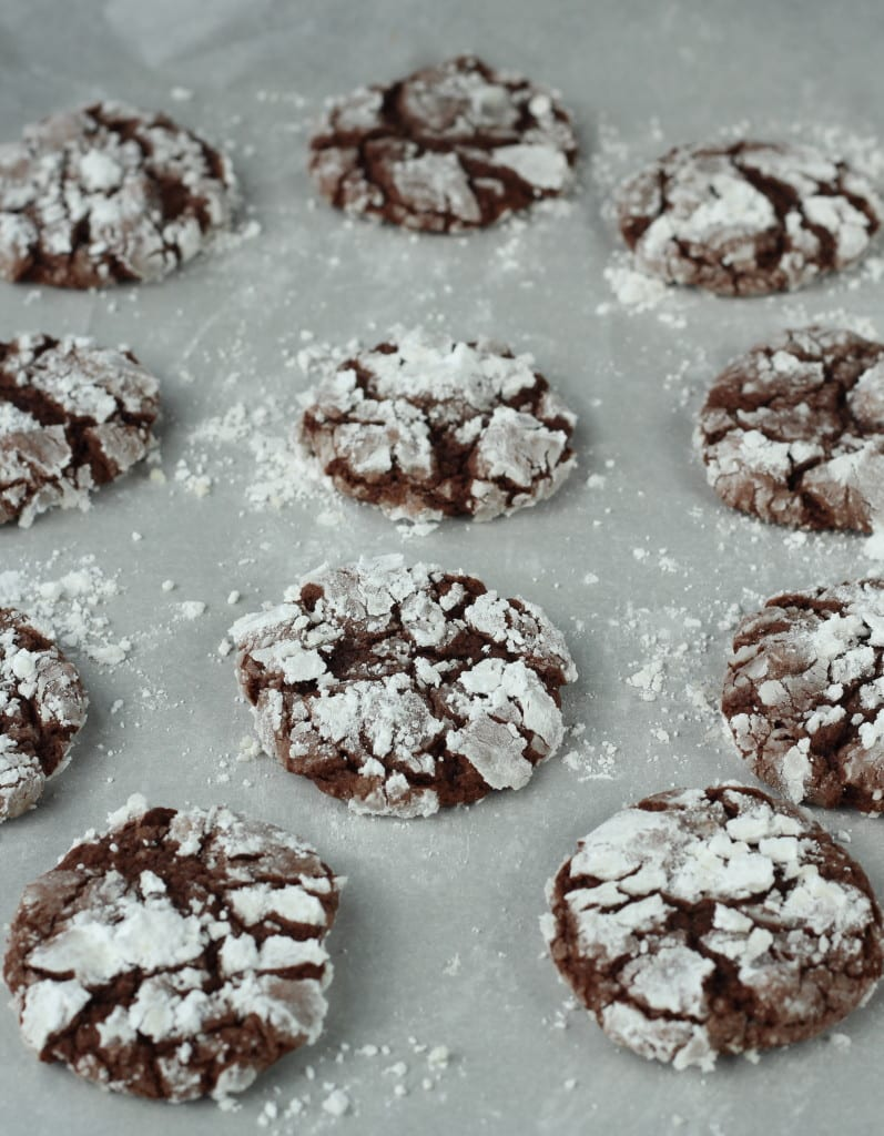 Chocolate Crackle Cookies - So easy it's ridiculous!