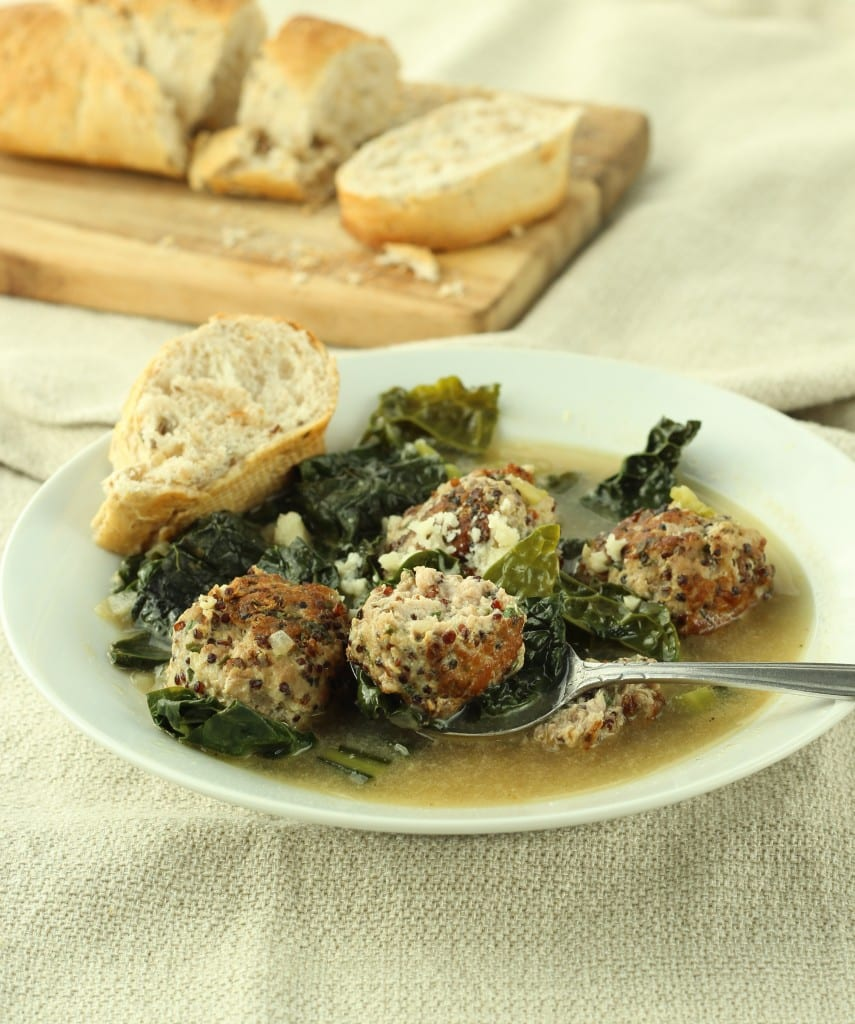Turkey Meatball and Kale Soup