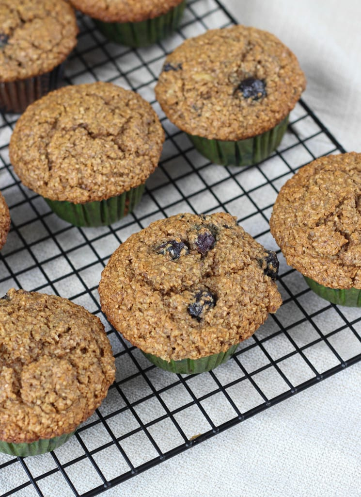 The Best Blueberry Banana Bran Muffins EVER