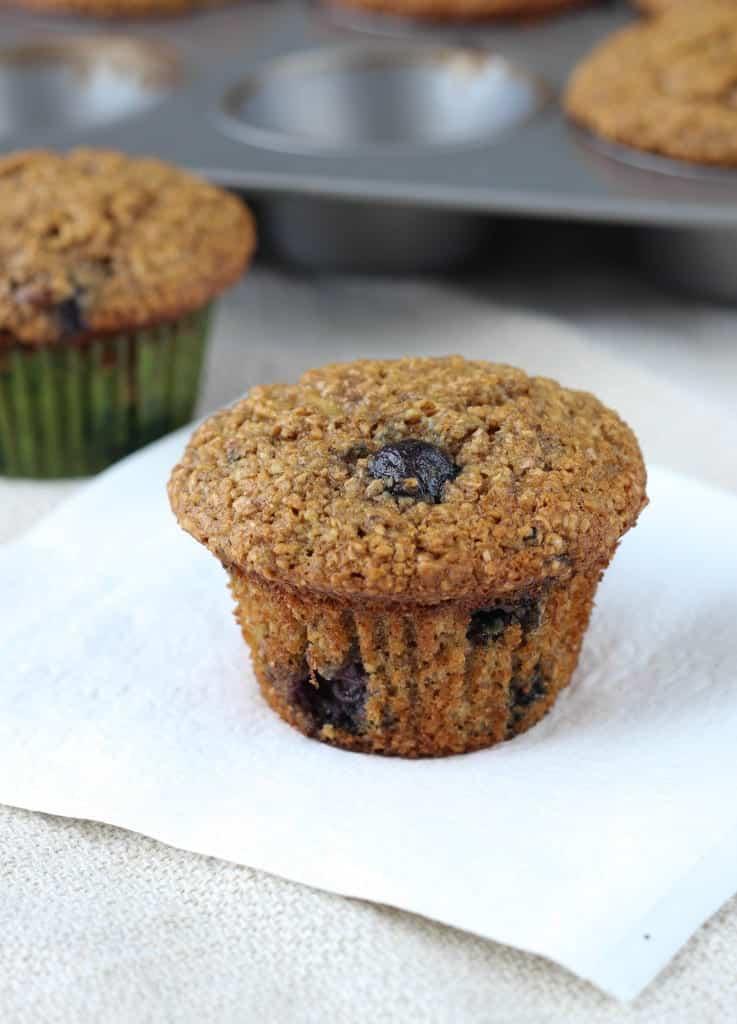The Best Blueberry Banana Bran Muffins