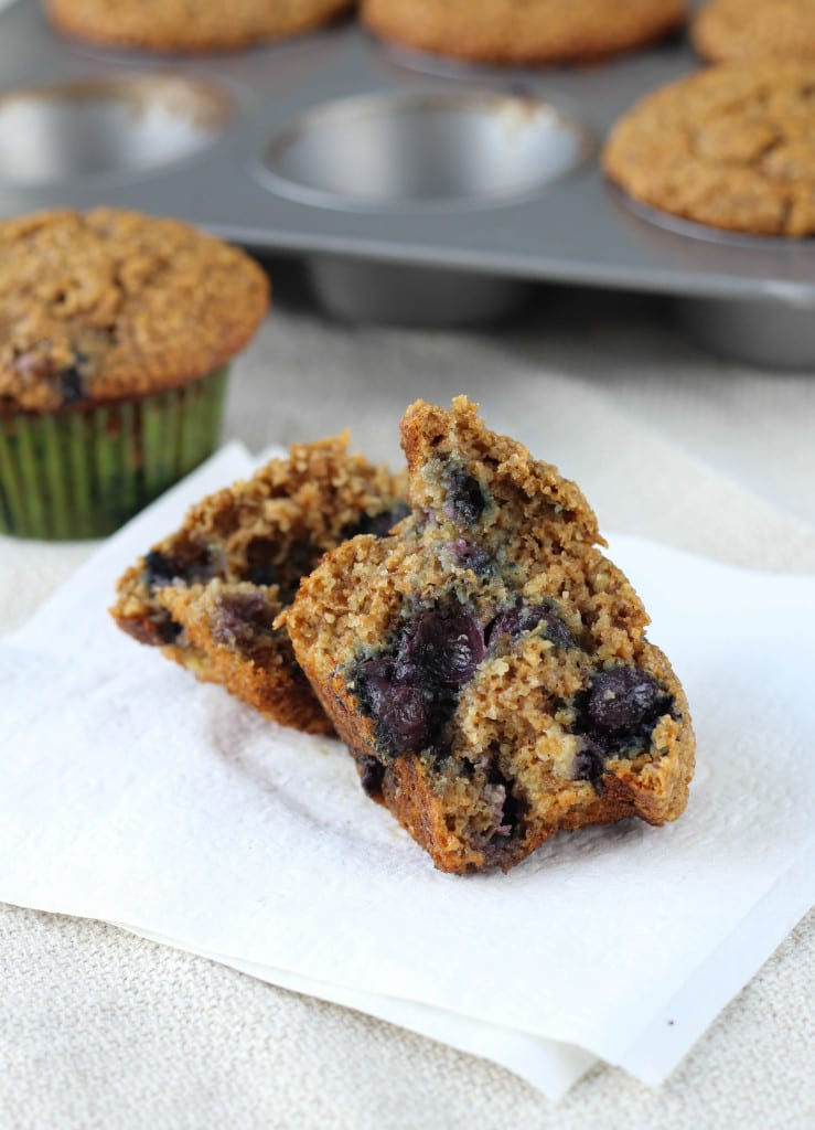 The Best Blueberry Banana Bran Muffins