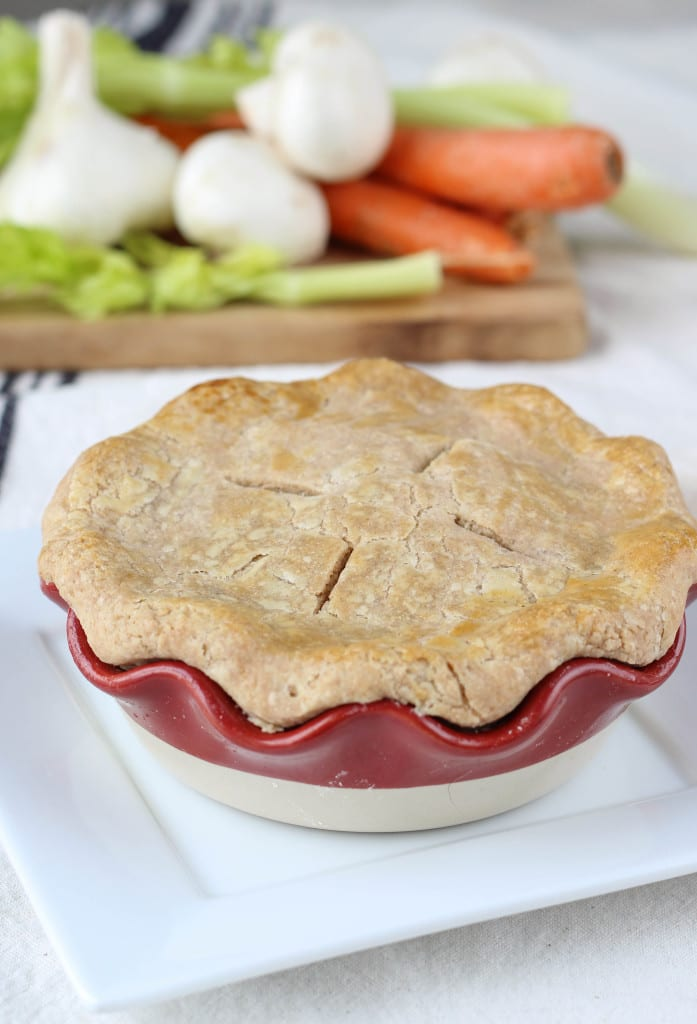Chicken Pot Pie in a Whole Wheat Crust