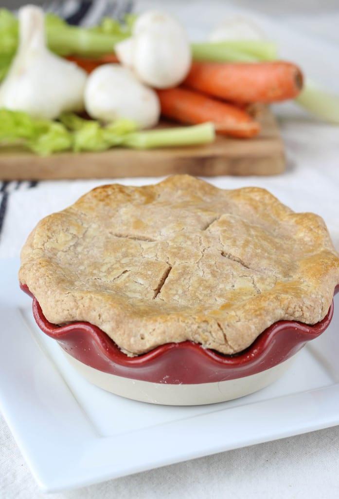 Chicken Pot Pie in a Whole Wheat Crust