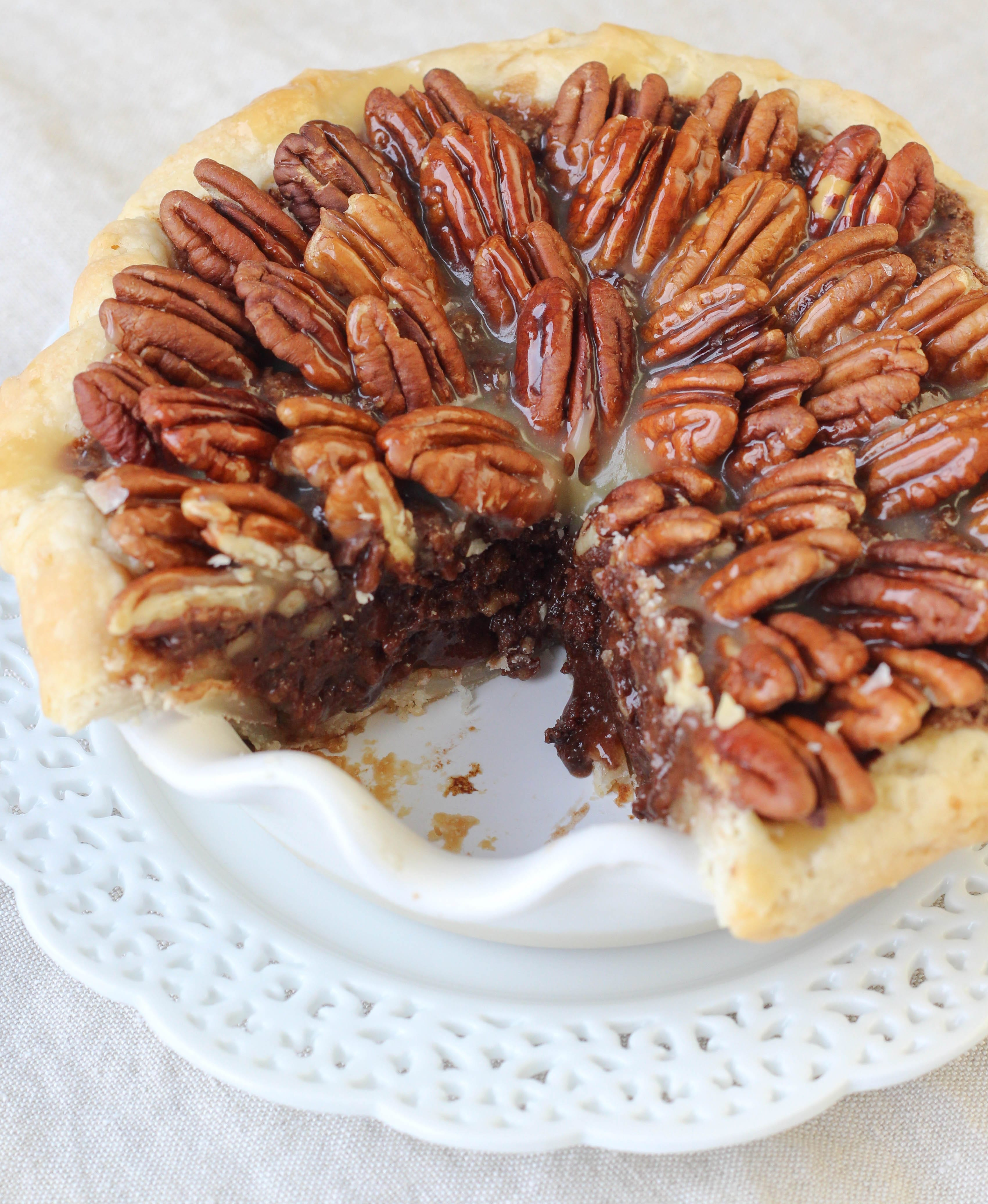 Salted Caramel Chocolate Pecan Pie - American Heritage Cooking