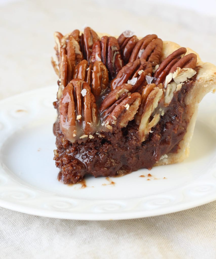 Salted Caramel Chocolate Pecan Pie - American Heritage Cooking