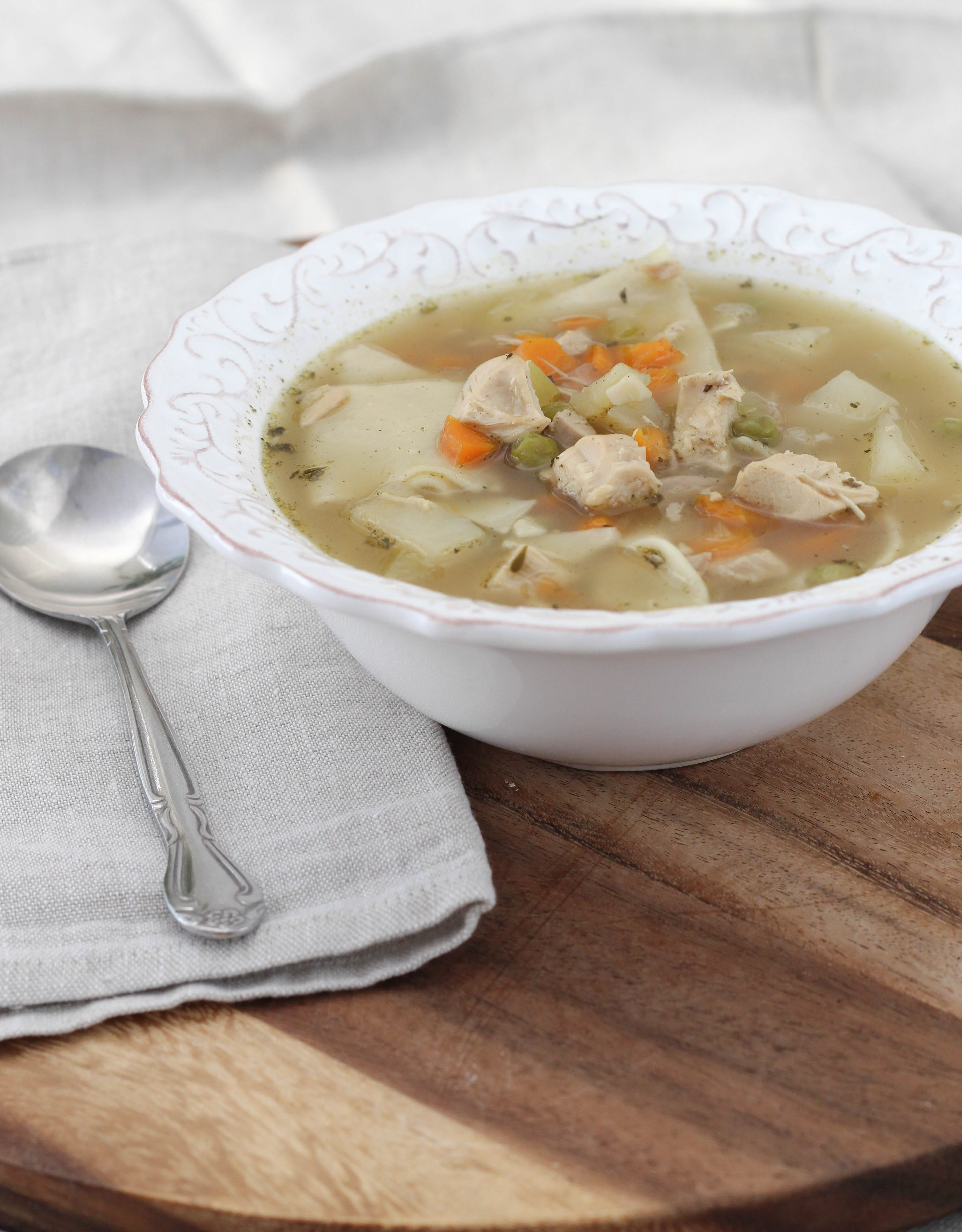This Chicken Noodle soup from scratch is rich, hearty and just like ...