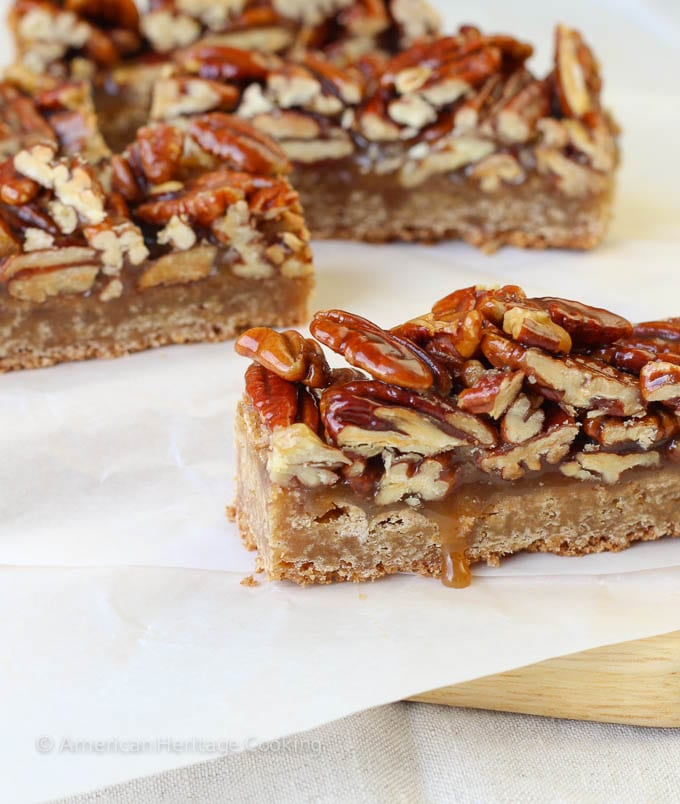 Maple Pecan Caramel Brown Butter Blondies