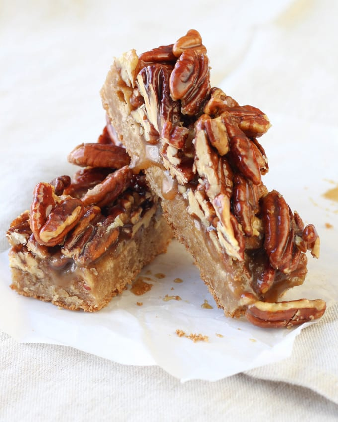 Maple Pecan Brown Butter Blondies