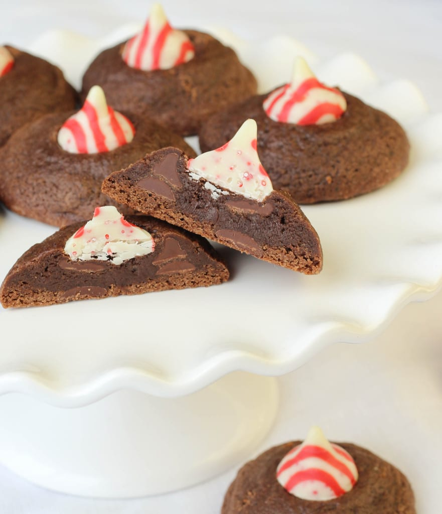 Double Chocolate Peppermint Kiss Cookies