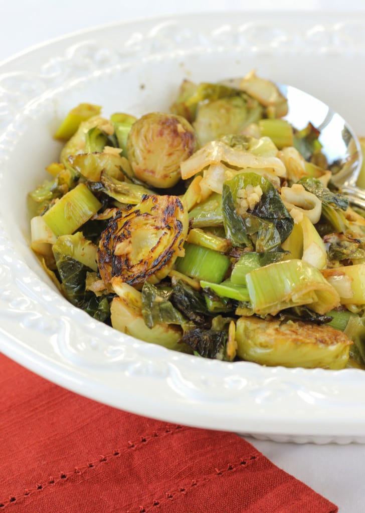 Brussels Sprouts and Leeks in a Ginger-Lime Butter Sauce