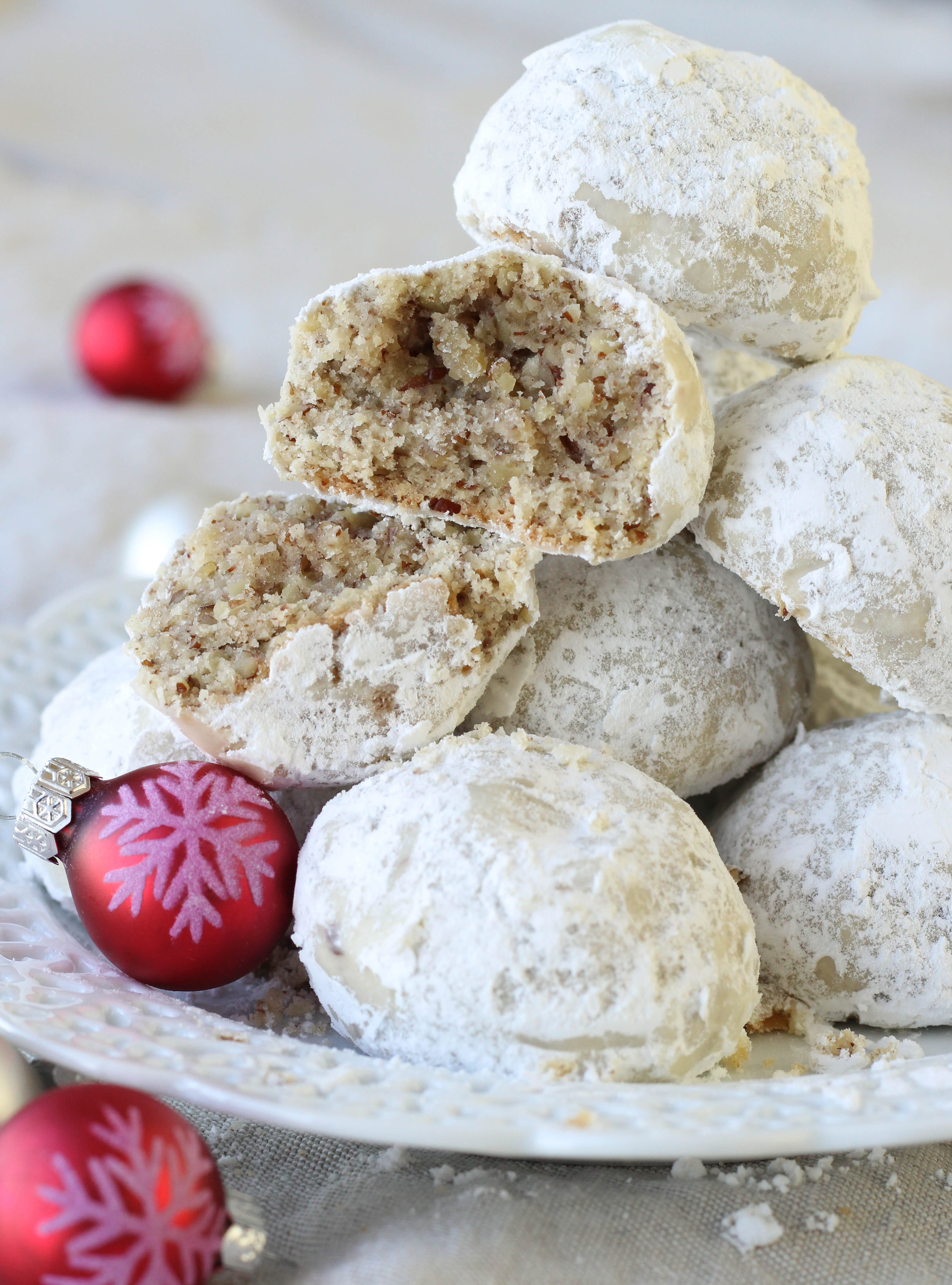 snowball cookies recipe with pecans