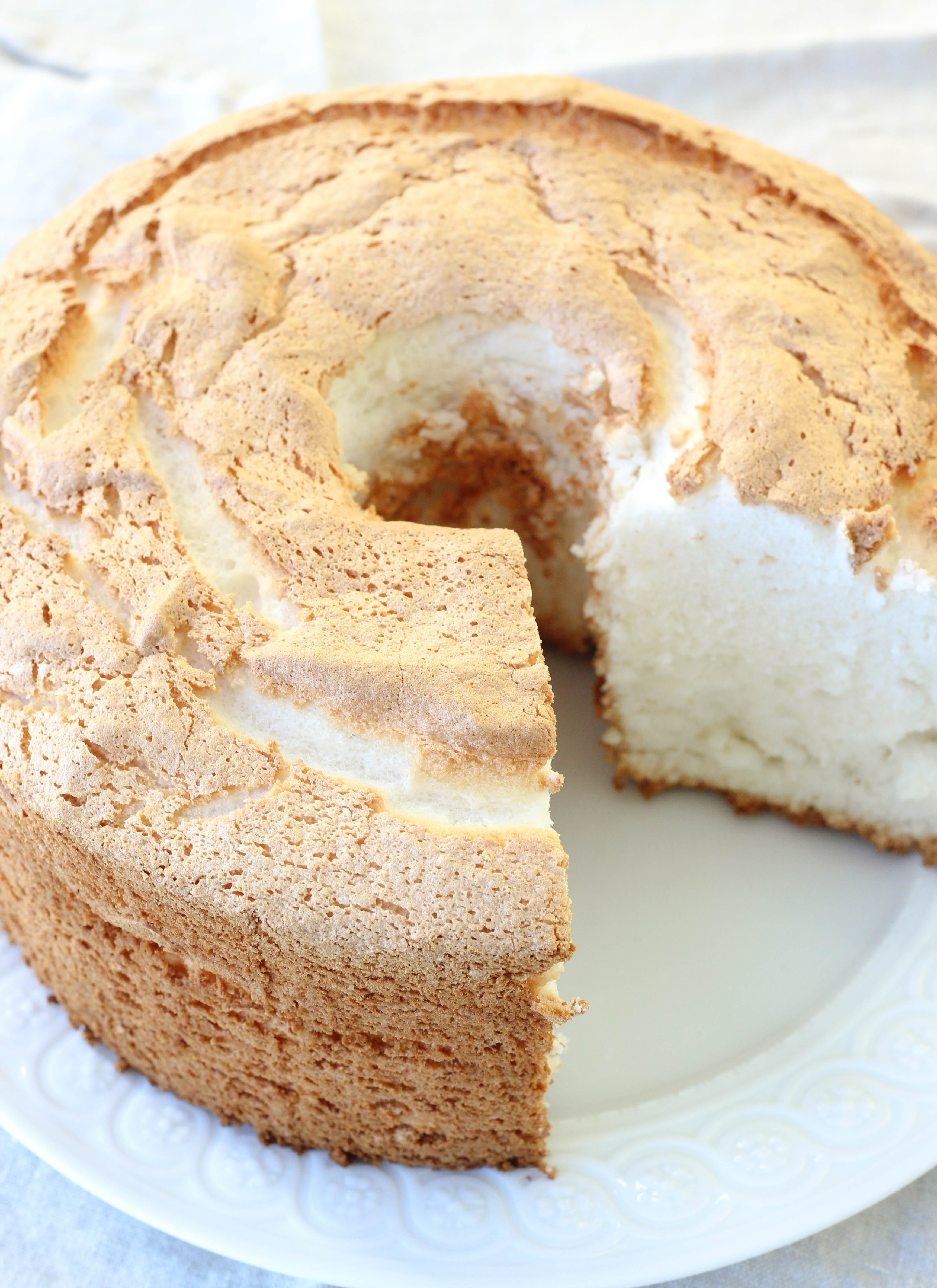 Lemon Vanilla Angel Food Cake Recipe