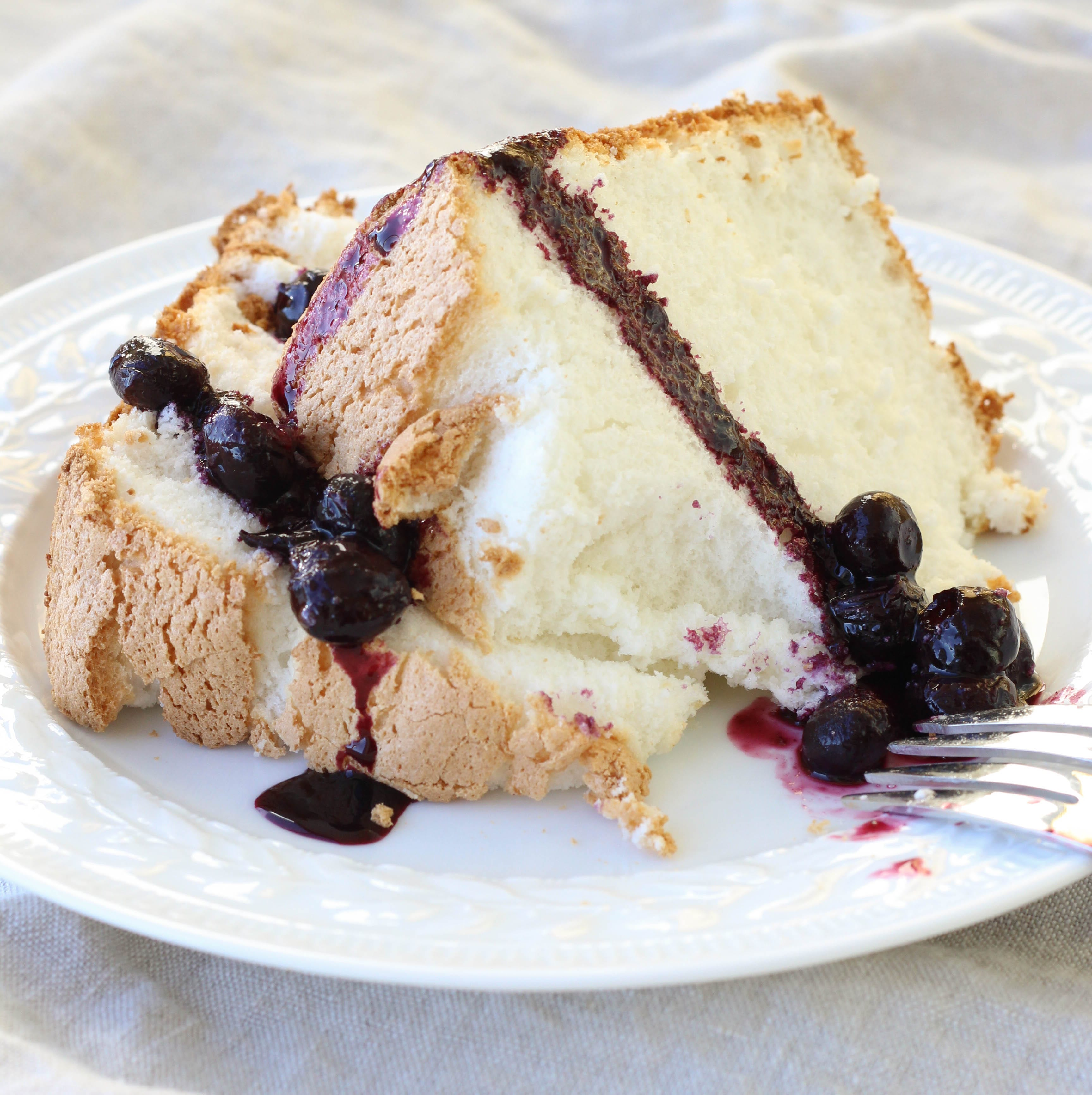 Angel Food Cake with Blueberry Sauce - American Heritage ...