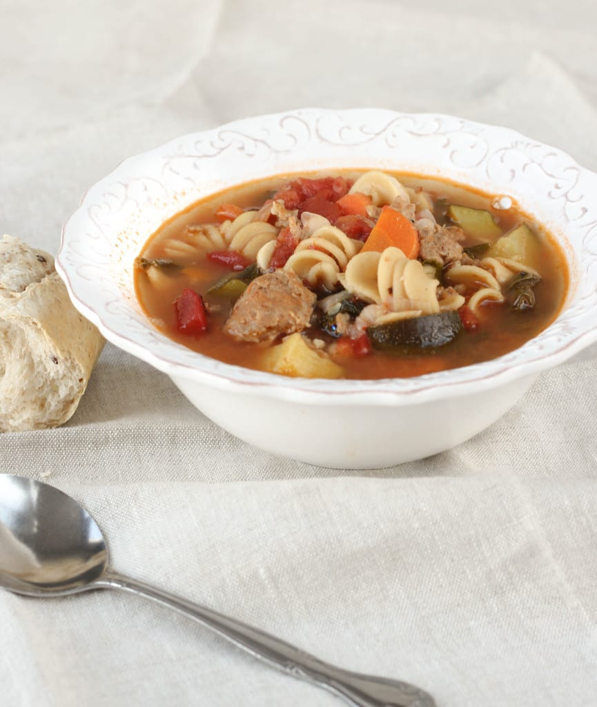 Healthy Italian Turkey Sausage Soup