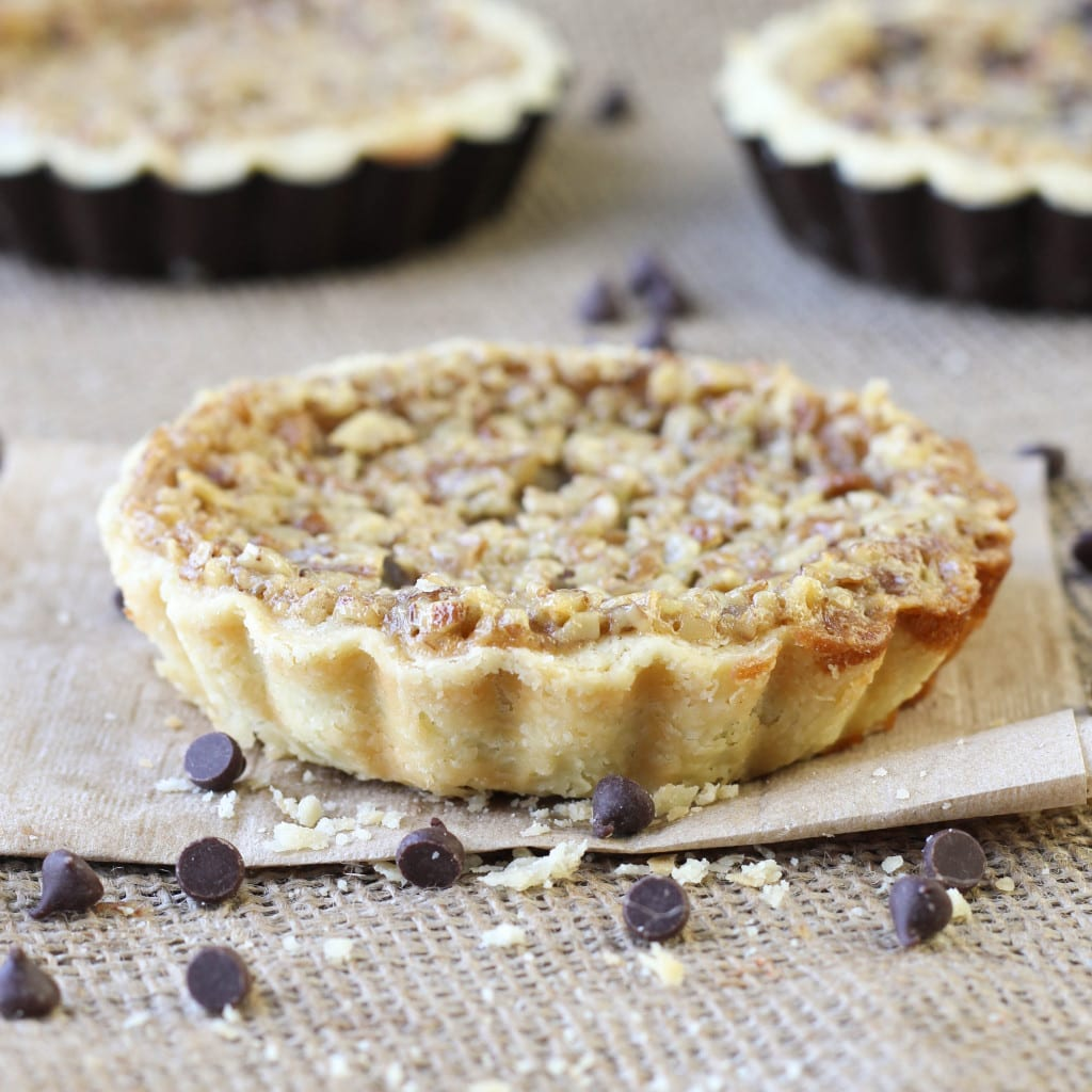 Bourbon Chocolate Pecan Tart