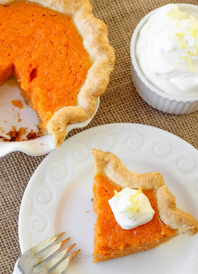 Mary Randolfs Sweet Potato Pie
