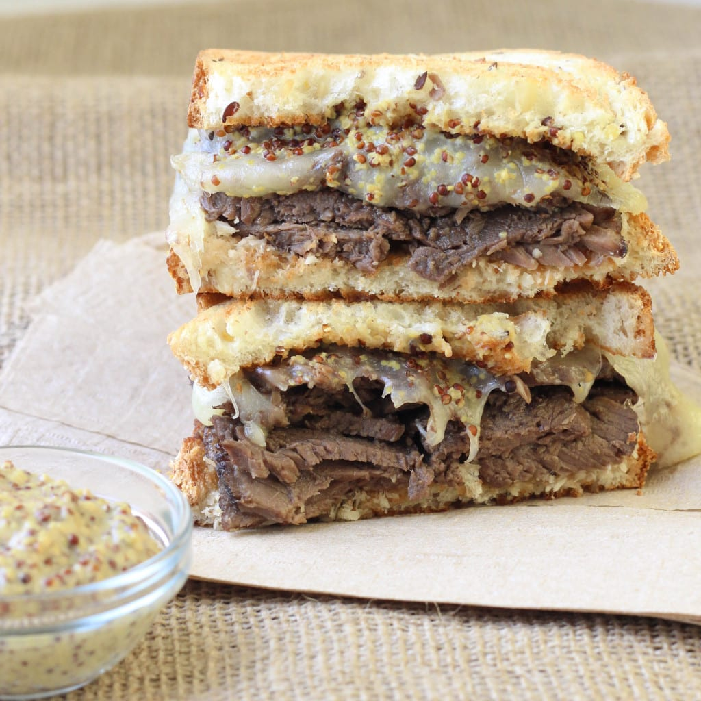 Roast Beef Swiss Melt - The BEST roast beef sandwich ever!