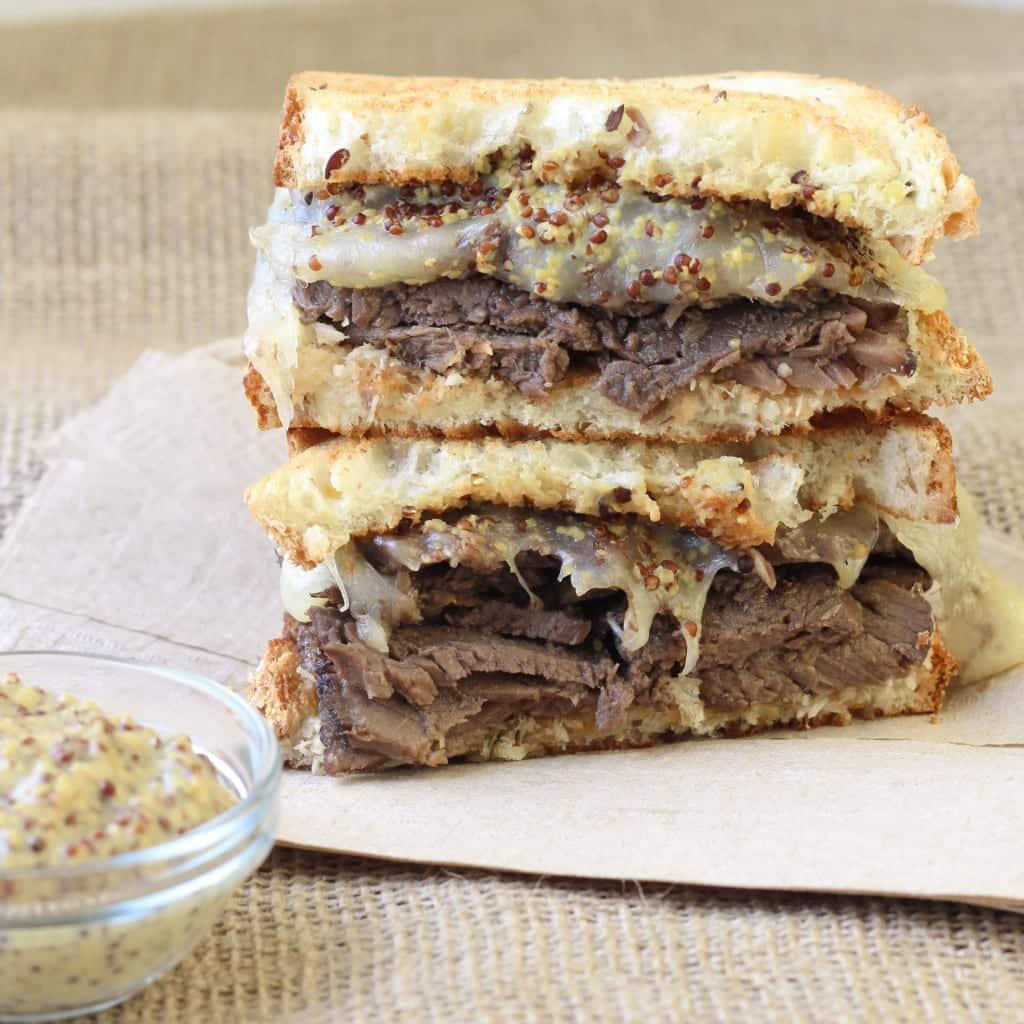 Roast Beef Swiss Melt - The BEST roast beef sandwich ever!