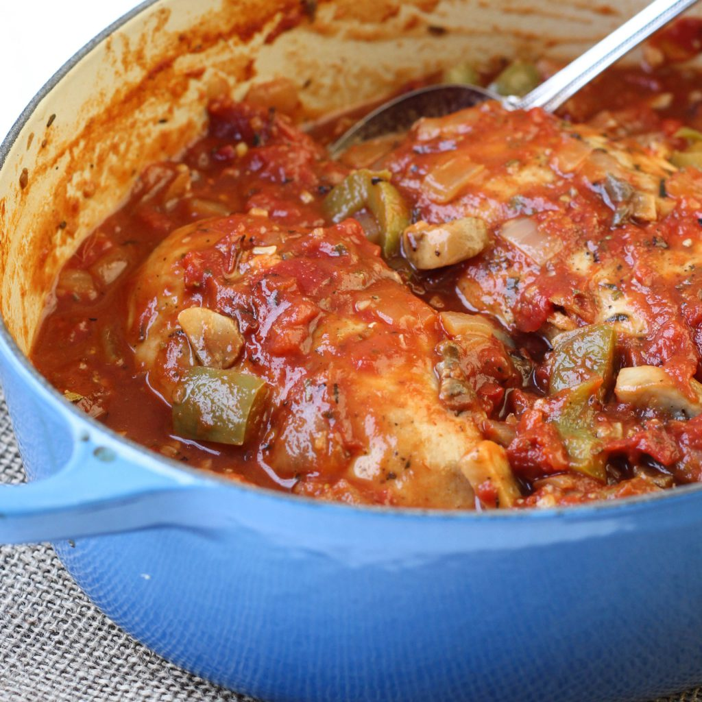 Easy Tomato Chicken Bake
