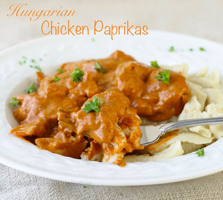 Hungarian Chicken Paprikas