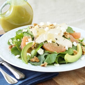 Grapefruit, Kale, Chicken, Avocado Power Salad with Champagne Vinaigrette