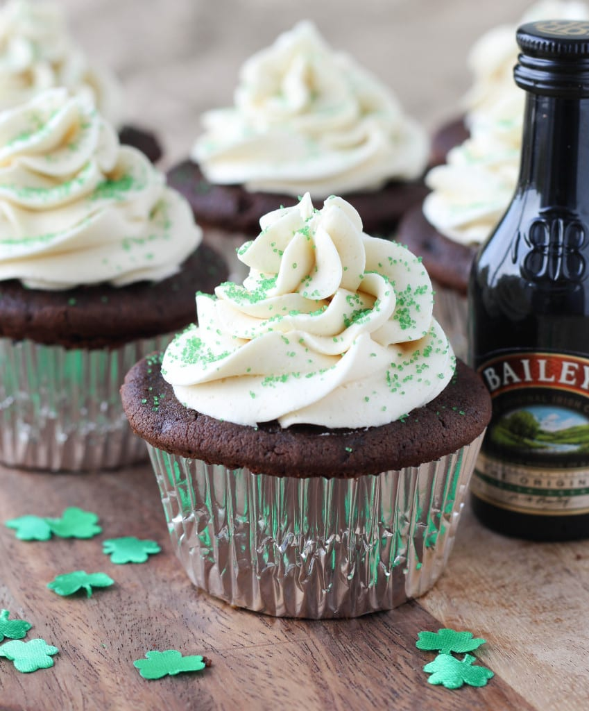 Guinness Chocolate Cupcakes with Bailey's Butter Cream and Caramel ...