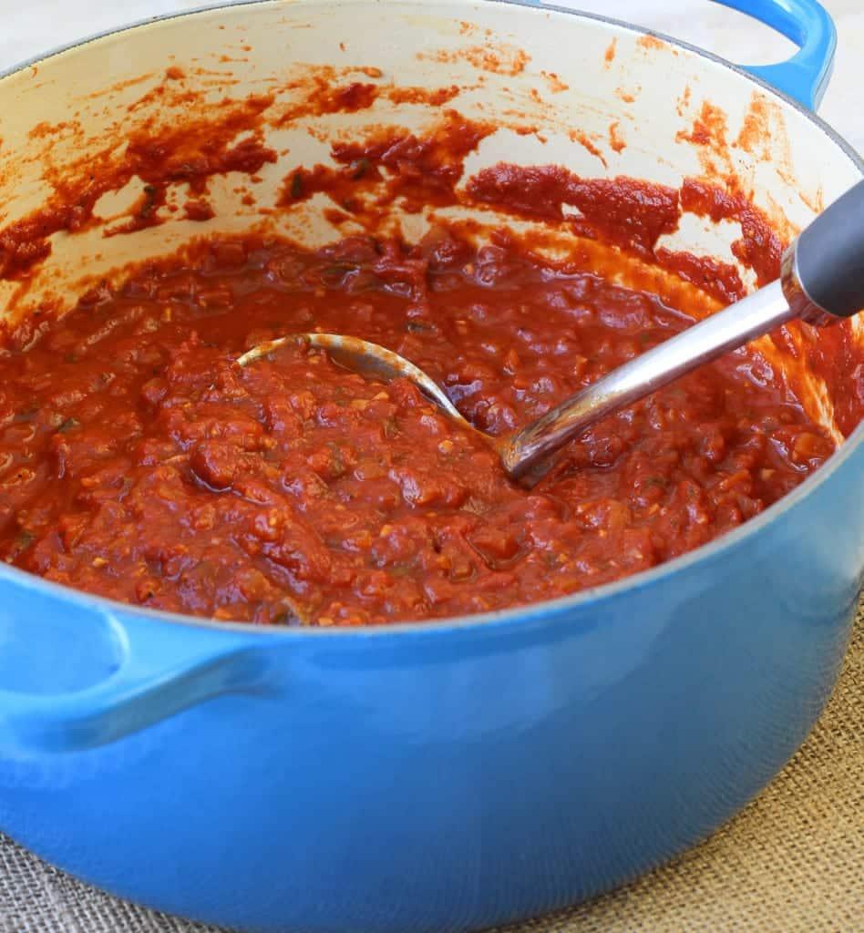 Red Wine Basil Pasta Sauce