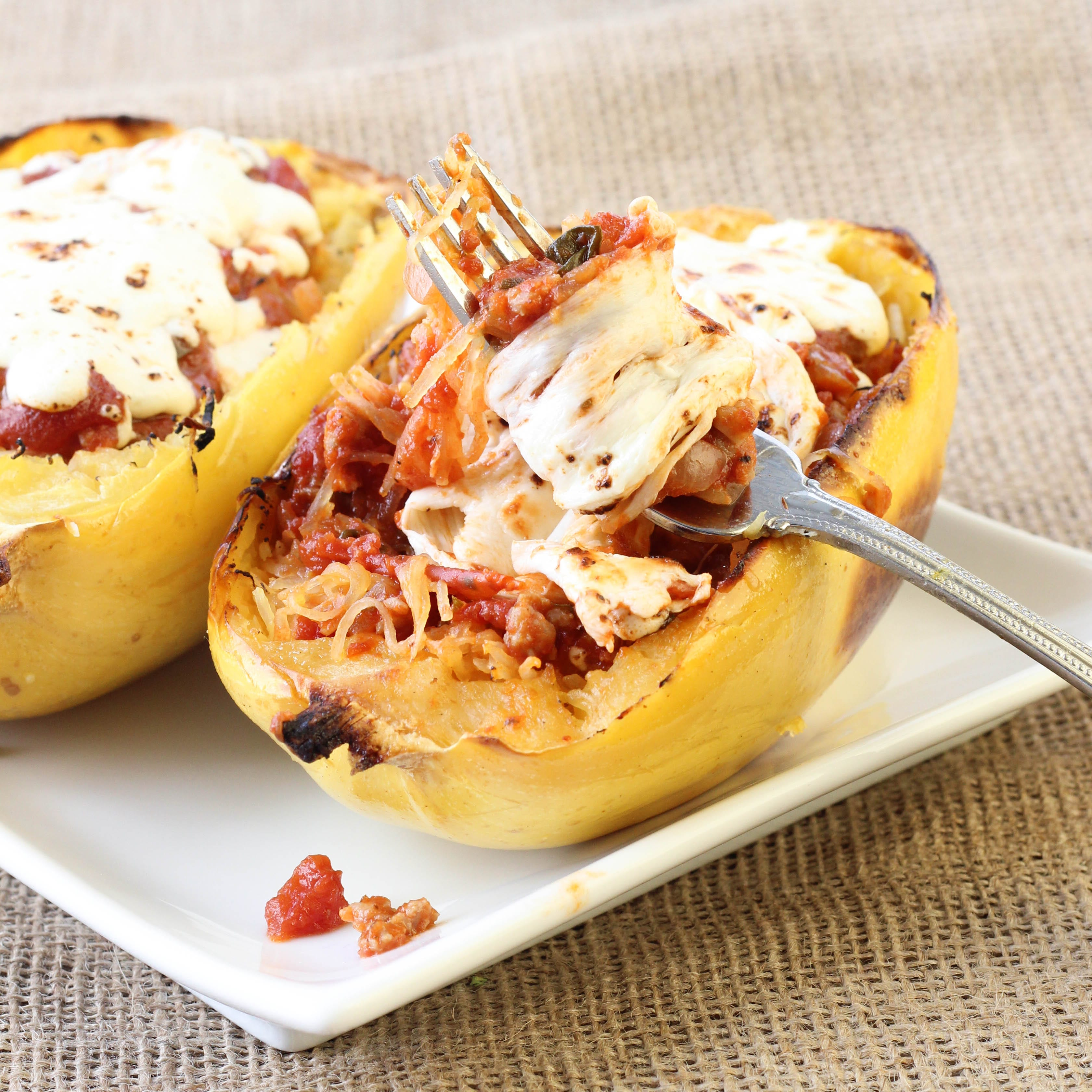 baked spaghetti squash the squash was super easy to roasted spaghetti ...