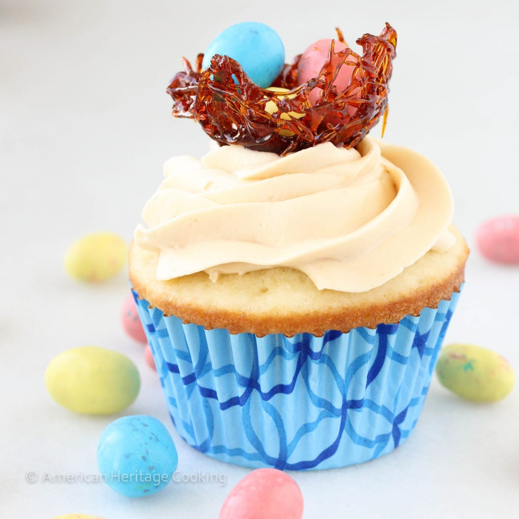 Easter Double Salted Caramel Cupcakes