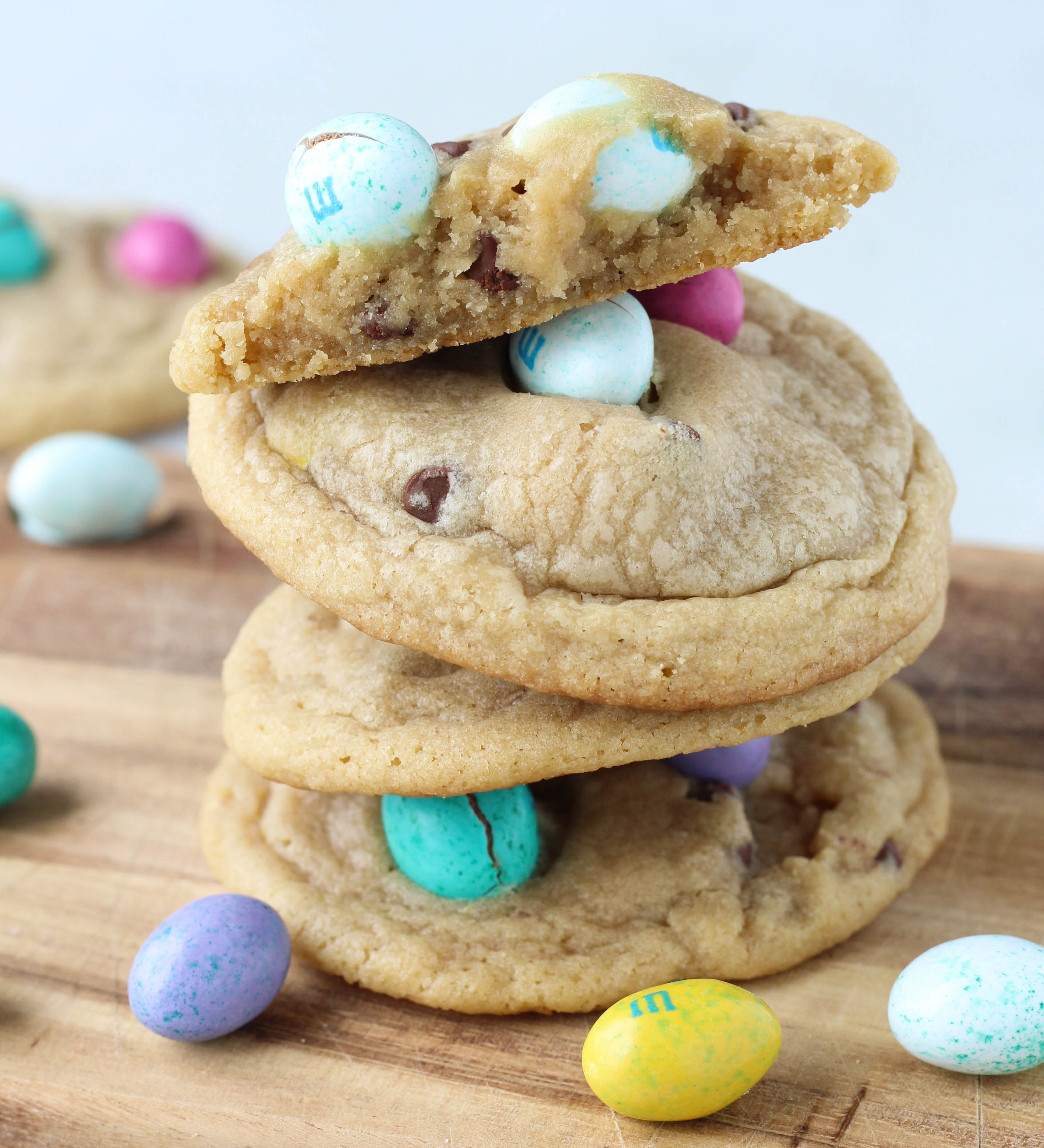 Peanut Butter M&M Chocolate Chip Cookies - American Heritage Cooking