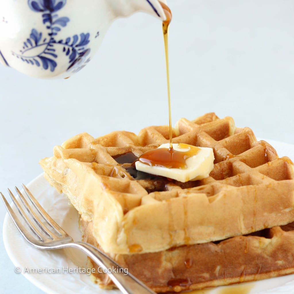 Rich Buttermilk Waffles Recipe — Dishmaps