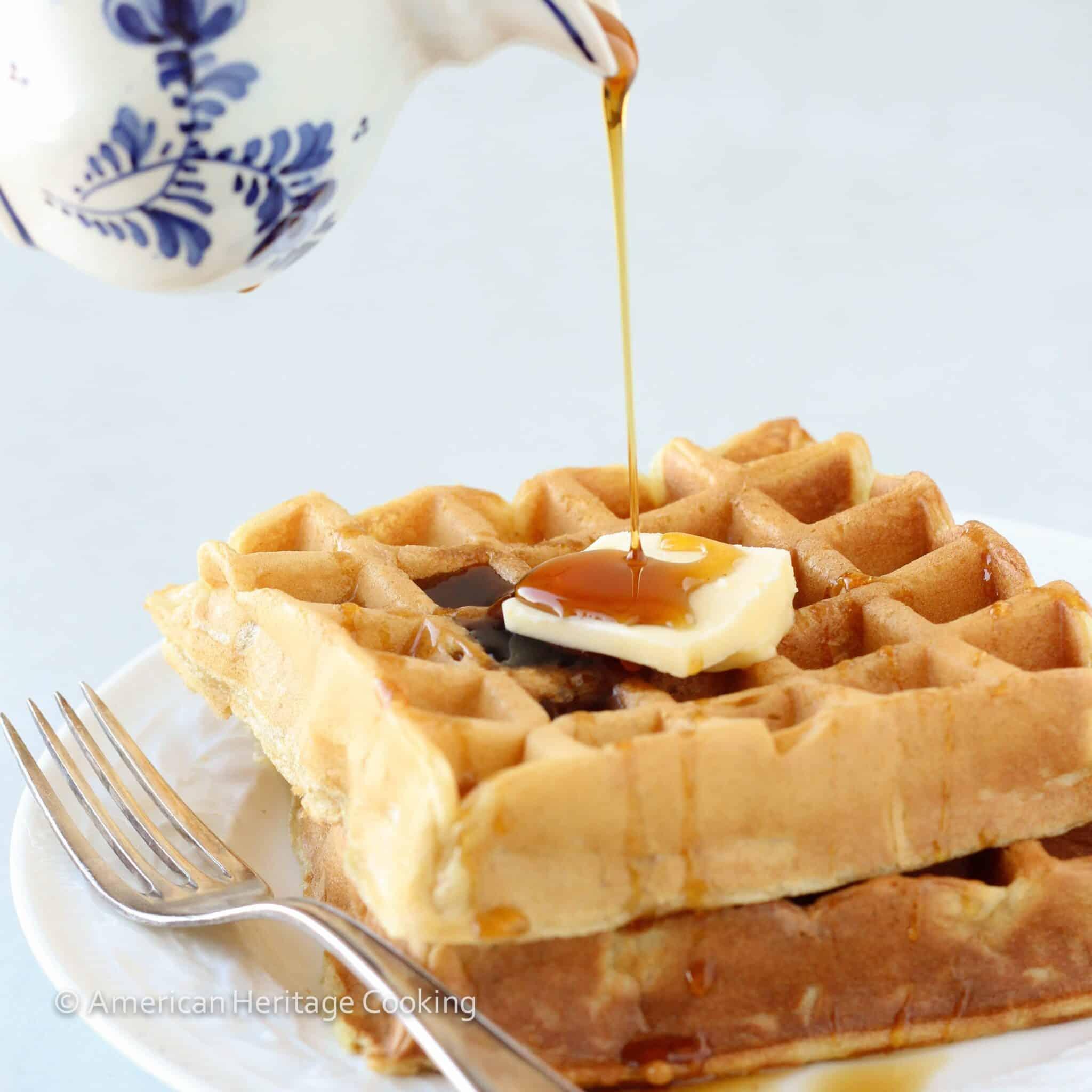 Lazy Sunday Buttermilk Waffles