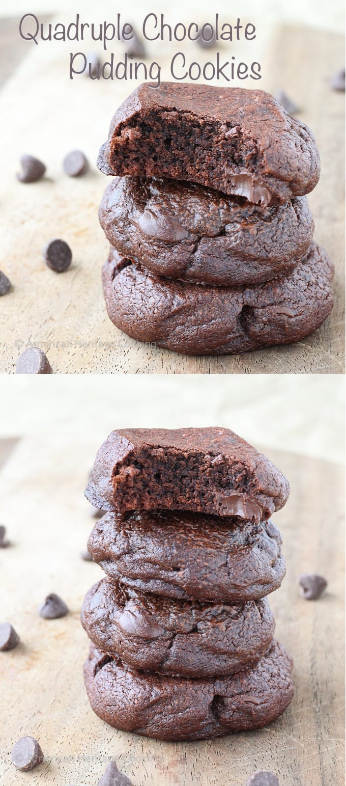 Quadruple Chocolate Pudding Cookies