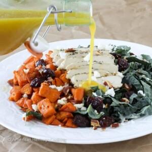 Roasted Sweet Potatoes Kale Salad