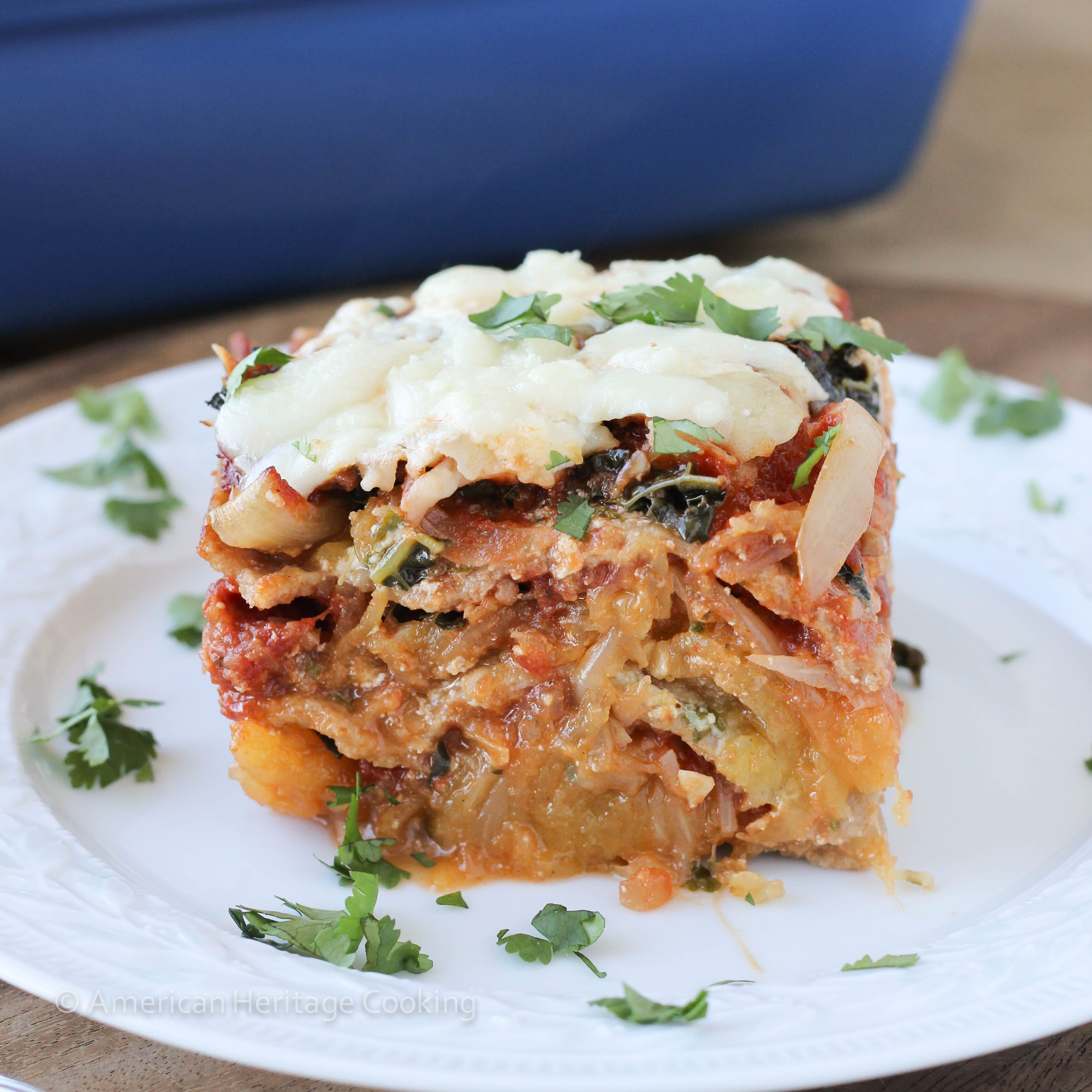 Spaghetti Squash Kale Lasagna - American Heritage Cooking