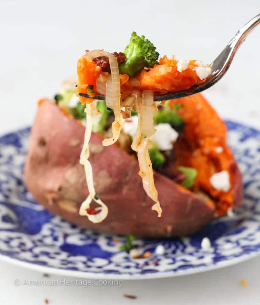 Vegetarian Stuffed Sweet Potatoes
