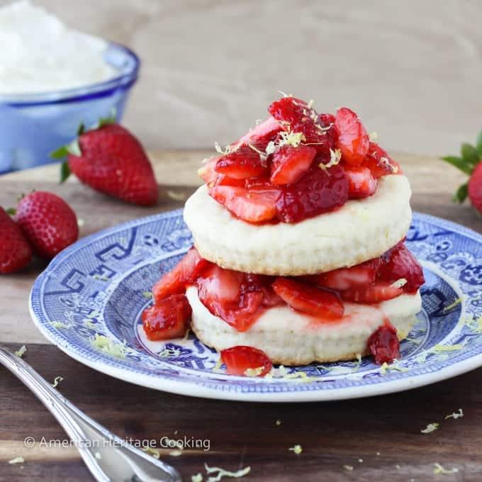 Easy Lemon Strawberry Shortcake