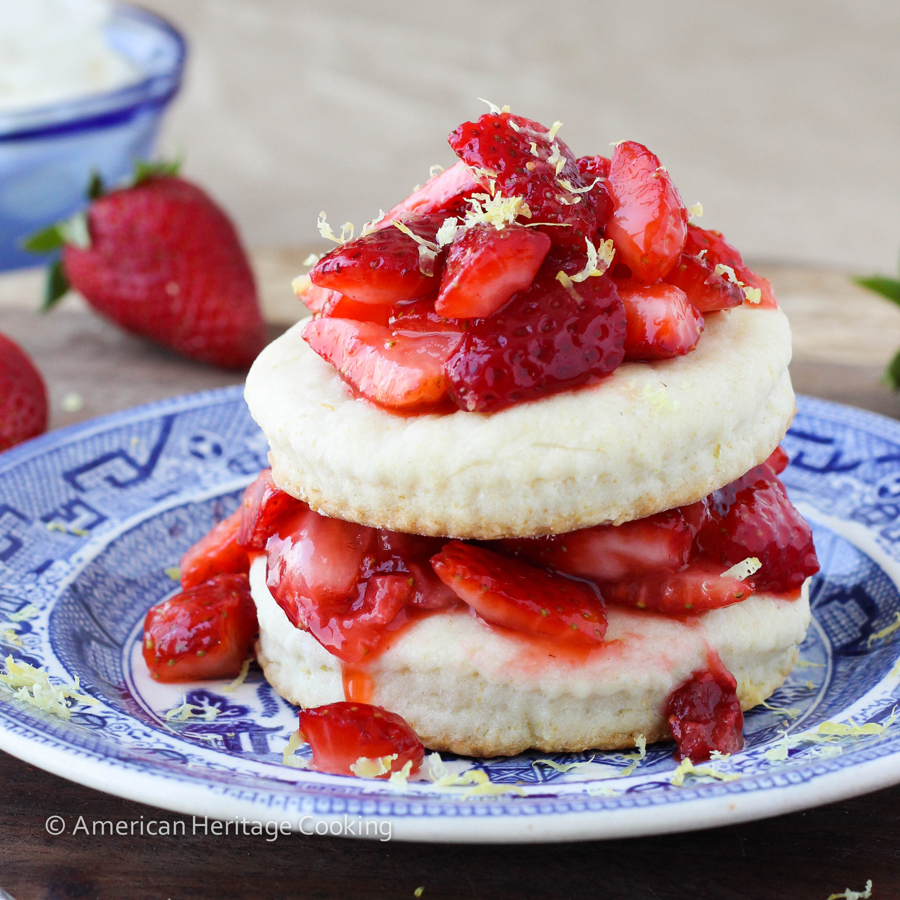 Easy Lemon Strawberry Shortcake {For Two}